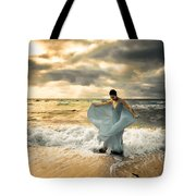 Dancing In The Surf Tote Bag