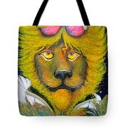 Dancing King Of The Serengeti Discotheque Tote Bag