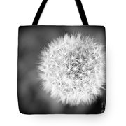 Dandelion 2 In Black And White Tote Bag