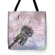 Dandelion Before Pretty Bokeh Tote Bag
