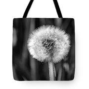 Dandelion Fluff Black And White Tote Bag