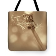 Dandelion Last To Fly Away Sepia Tote Bag