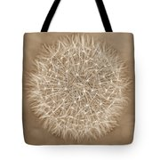 Dandelion Marco Abstract Brown Tote Bag