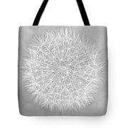 Dandelion Marco Abstract Gray Tote Bag