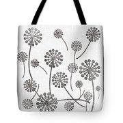 Dandelion Seeds Grey Tote Bag
