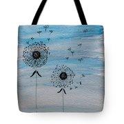Dandelion Wind Tote Bag