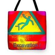Danger Of Falling Tote Bag