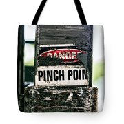 Danger Pinch Point Tote Bag