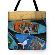 Dangerous Manouvers At The Nile River Canal Locks Tote Bag