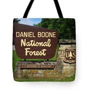 Daniel Boone Tote Bag by Frozen in Time Fine Art Photography