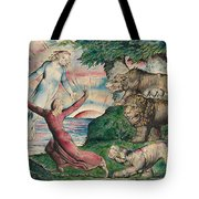 Dante Running From The Three Beasts Tote Bag