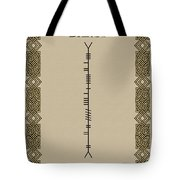 Darcy Written In Ogham Tote Bag