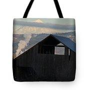 Dark Barn And Mt Mclaughlin Tote Bag