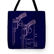 Dark Beaumont Revolver Patent Tote Bag