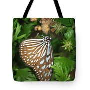 Dark Blue Tiger Butterfly Tote Bag