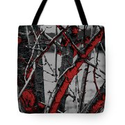 Dark Branches Tote Bag