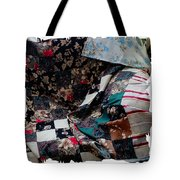 Dark Colored Blocks Patchwork Quilt  Tote Bag