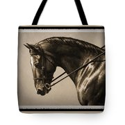 Dark Dressage Horse Old Photo Fx Tote Bag by Crista Forest