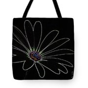 Dark Flower Tote Bag