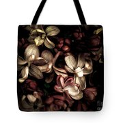 Dark Flowers Tote Bag