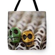 Dark Green And Yellow Tote Bag