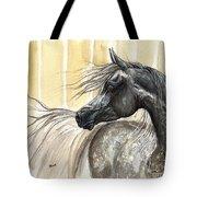Dark Grey Arabian Horse 2014 02 17 Tote Bag
