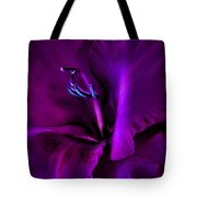 Dark Knight Purple Gladiola Flower Tote Bag by Jennie Marie Schell
