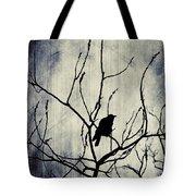 Crow In Dark Lights Tote Bag
