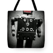 Dark Metal Robot Oil Tote Bag