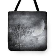 Dark Night Sky Paradox Tote Bag by Taylan Apukovska
