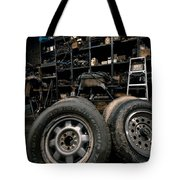 Dark Old Garage Tote Bag