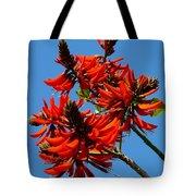 Dark Orange Coral Blossom Tote Bag