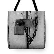 Dark Padlocked Tote Bag