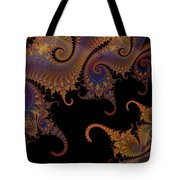 Dark Paisley Tails Tote Bag