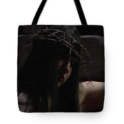 Dark Portrait Of A Female Jesus Tote Bag