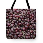 Dark Red Cherries For Sale Tote Bag