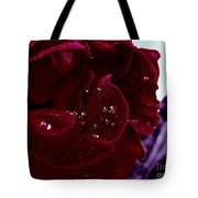 Dark Red Rose Tote Bag