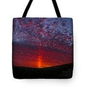 Dark Red Sunset Tote Bag