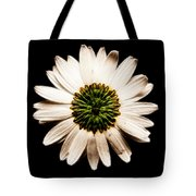 Dark Side Of A Daisy Square Fractal Tote Bag
