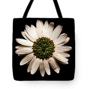 Dark Side Of A Daisy Square Tote Bag