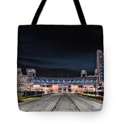 Dark Skies At Citizens Bank Park Tote Bag