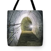 Dark Tunnel And Staircase Tote Bag