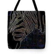 Dark Zebra Tote Bag
