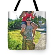 Couple From Saskatchewan On Skyline Trail In Cape Breton Highlands National Park-nova Scotia-canada  Tote Bag