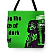 Darth Drinks Guinness Tote Bag