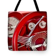 Dashboard Red Classic Car Tote Bag