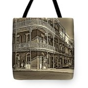 Dashing In Red - Sepia Tote Bag