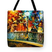 Date On The Bridge - Palette Knife Oil Painting On Canvas By Leonid Afremov Tote Bag