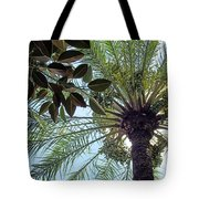 Date Palm And Rubber Tree Branch Tote Bag