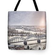 Daugava Railway Bridge Tote Bag